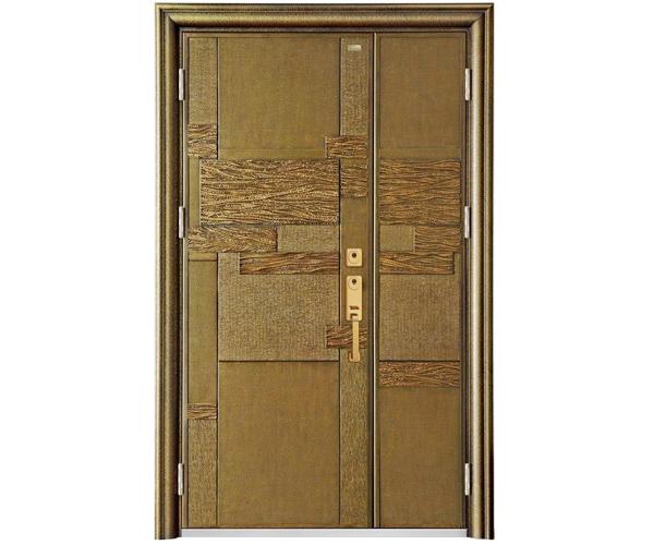 仿铜铝木门