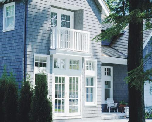 别墅铝木门窗安装