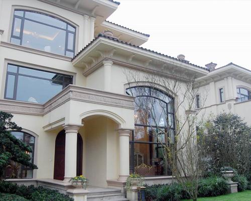 别墅断桥铝门窗安装